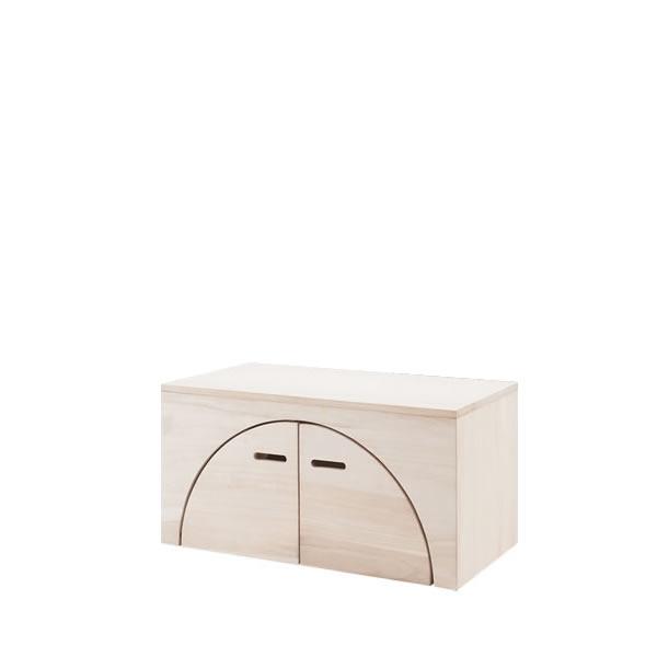 お買い物マラソン期間中ポイント5倍 ユニットボックス アークボックス 天然木桐材 ナチュラル テーブル 壁面収納 間仕切り収納 全32種類から選べる NR-GA-0047