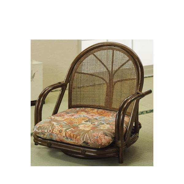 c31603e56d4333 籐 S-301B 籐製チェア 回転ラタン椅子 籐椅子 回転座椅子 回転椅子 ロータイプ ラウンドチェアー 座椅子-座椅子