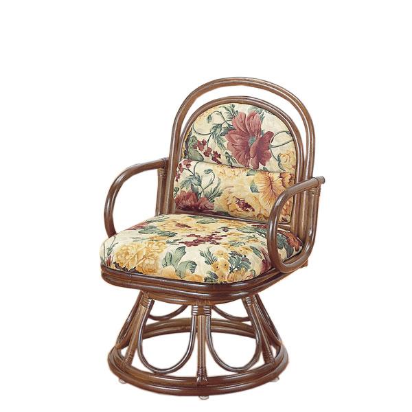 腰安楽座椅子 籐製 座椅子 ラウンドチェアー 回転座椅子 籐椅子 回転ラタン椅子 籐チェア S-49B