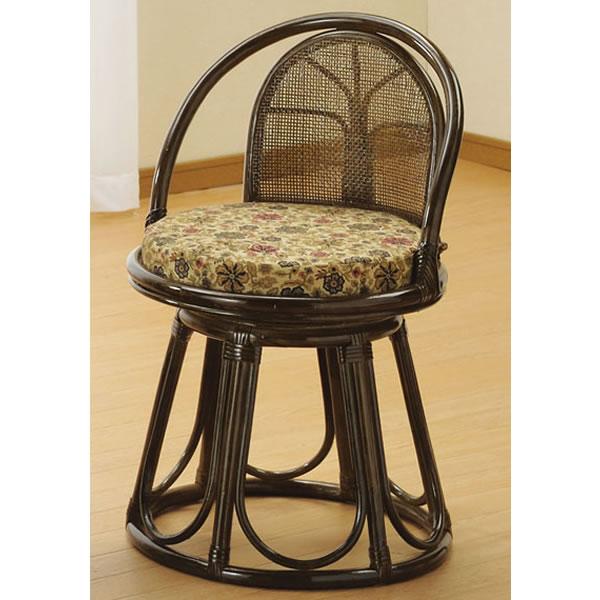 座椅子 籐回転座椅子 ハイタイプ 籐椅子 回転ラタン椅子 籐チェア S-514B