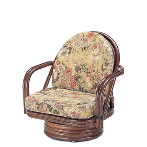 籐製座椅子ラウンドチェアーミドルタイプ回転座椅子籐椅子回転ラタン椅子籐チェアS-776B