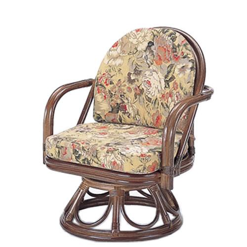籐製 座椅子 ラウンドチェアー ハイタイプ 回転座椅子 籐椅子 回転ラタン椅子 籐チェア S-777B