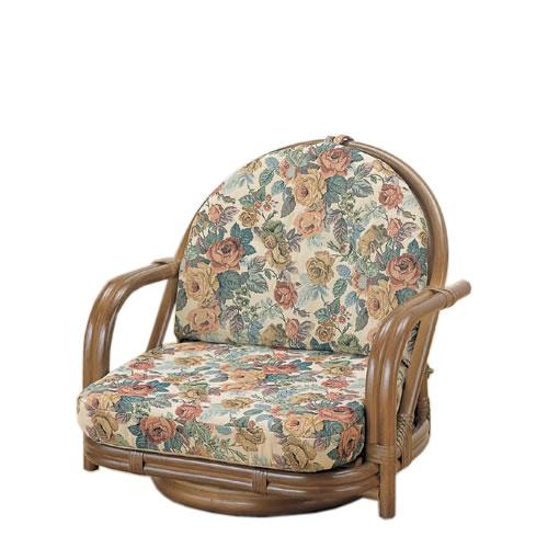 座椅子 籐回転座椅子 ロータイプ 籐椅子 回転ラタン椅子 籐チェア TK-781