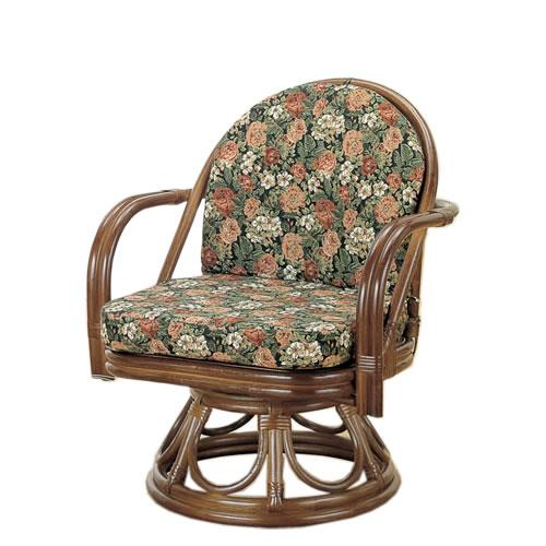 籐製 座椅子 ラウンドチェアー 回転座椅子 籐椅子 回転ラタン椅子 籐チェア Y-1000B