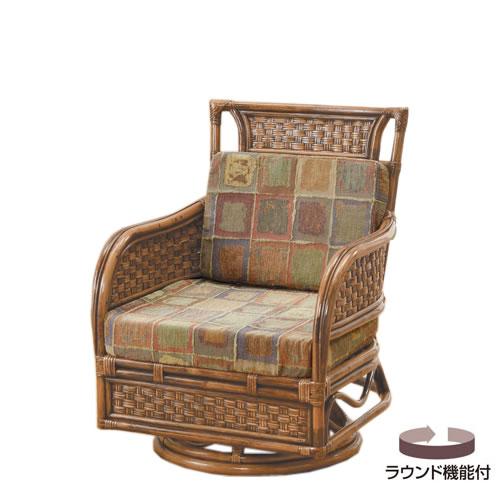 籐製 座椅子 ラウンドチェアー 回転座椅子 籐椅子 回転ラタン椅子 籐チェア Y-700