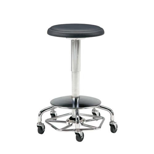 医師用 診療 診察チェア 椅子 メディカルチェア 病院イス ドクター用 ハンズフリーチェア 作業用椅子 キャスター付 フットペダル ガス上下調節 APM-36