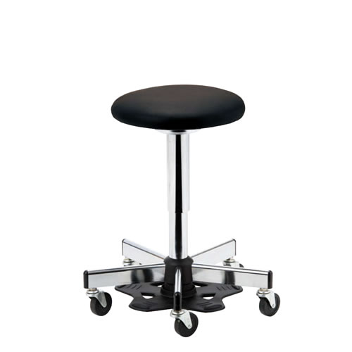 医師用 診療 診察チェア 椅子 メディカルチェア 病院イス ドクター用 ハンズフリーチェア 作業用椅子 フットペダル 樹脂 キャスター付 ガス上下調節 APM-45
