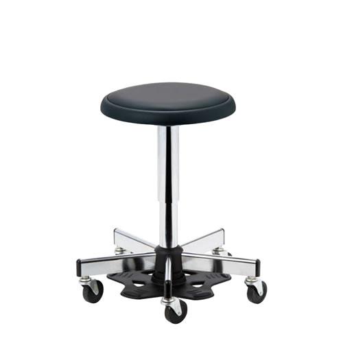医師用 診療 診察チェア 椅子 メディカルチェア 病院イス ドクター用 ハンズフリーチェア 作業用椅子 フットペダル 樹脂 キャスター付 ガス上下調節 APM-46