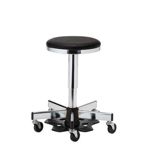医師用 診療 診察チェア 椅子 メディカルチェア 病院イス ドクター用 ハンズフリーチェア 作業用椅子 フットペダル 樹脂 キャスター付 ガス上下調節 APM-47