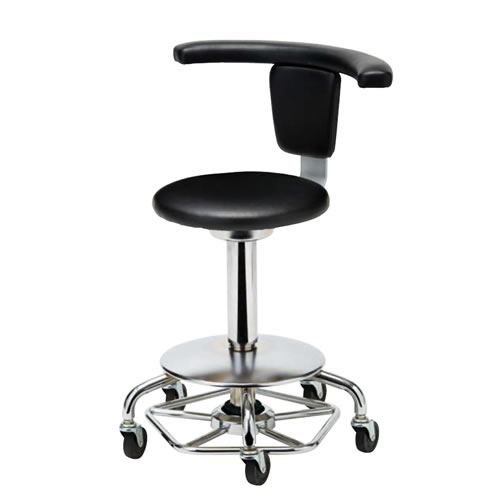 医師用 診療 診察チェア 椅子 メディカルチェア 病院イス ドクター用 ハンズフリーチェア 高作業用 背付 肘付 キャスター付 フットペダル ガス上下調節 背固定 APM-50