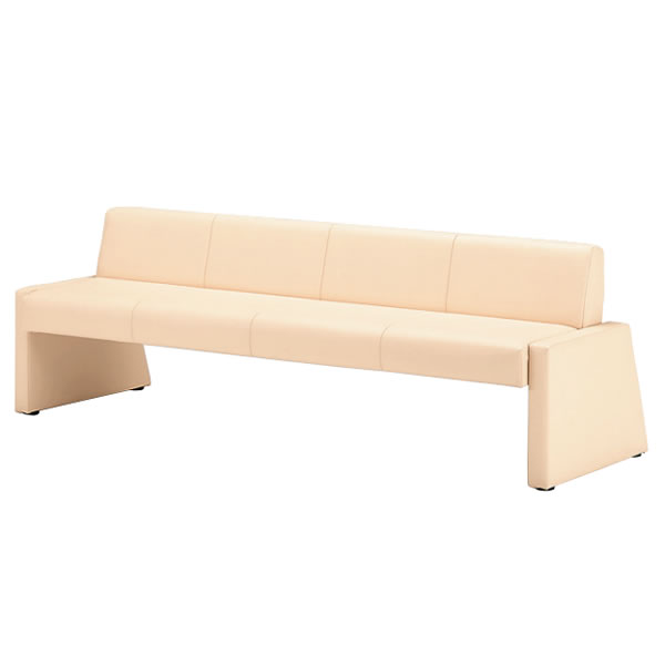 ソファーベッド 背付きロビーチェア 長椅子 幅1800mm MBC型ソファー MBC-91SB