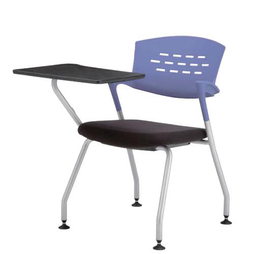 A3メモ台 テーブル付きチェア 椅子 イス 固定脚 クピット QPC-310T3