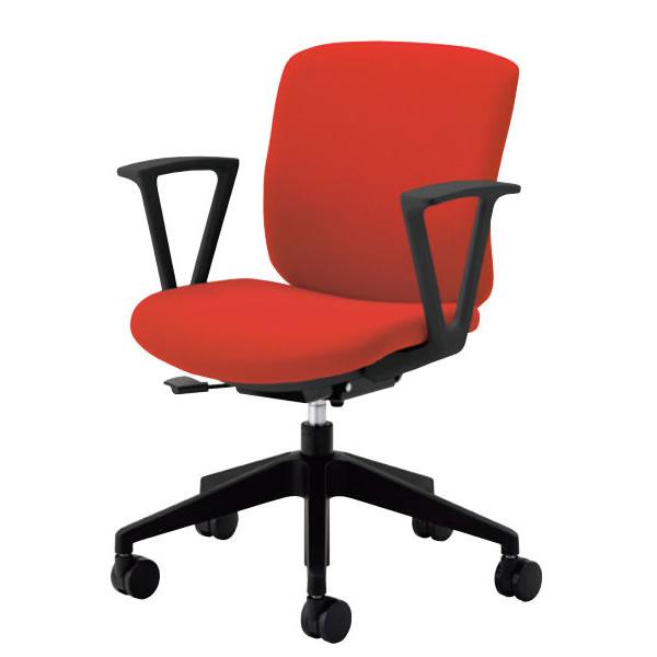 オフィスチェアー オフィスチェア 事務用椅子 QR-Cチェア 固定肘付 コンパクトタイプ 布張り QRC-20-QRS-RA