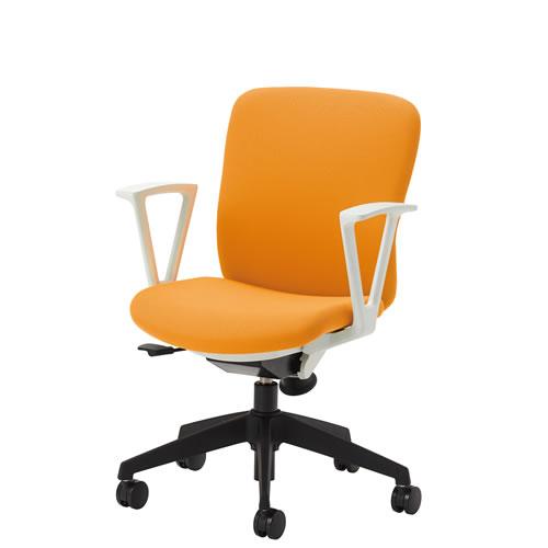 在宅 テレワーク オフィスチェアー オフィスチェア 事務用椅子 QRチェア 肘付 ミドルバック 布張り QRS-30+QRS-RA