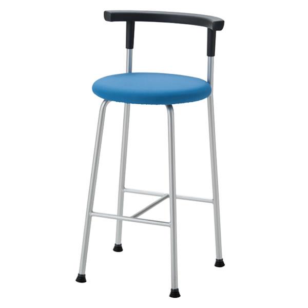 丸イス パイプ椅子 カウンター ハイスツール 背付 固定脚 R-640