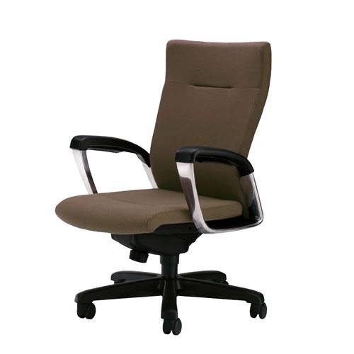 社長椅子 オフィスチェア サミットチェア ミドルバック ローシートタイプ 肘付き SMI-S6