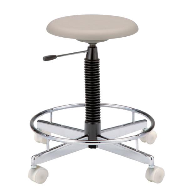 クリーンチェア 高作業用チェアー 作業椅子 作業用椅子 ブロー成型座 ガス上下調節 キャスター付き TCC-9LN