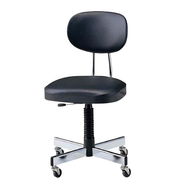 オフィスチェアー オフィスチェア 椅子 肘なし ビニールレザー張り NOTL-215C
