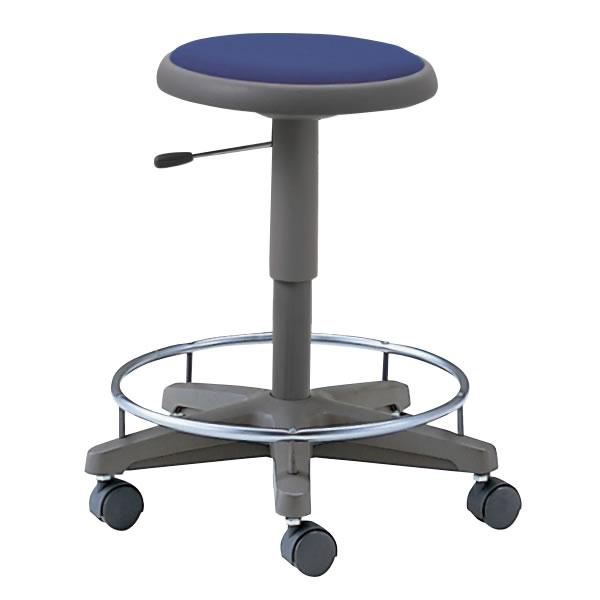 作業用スツール 椅子 キャスター付き ガス上下昇降 リング付き NOTL-360R