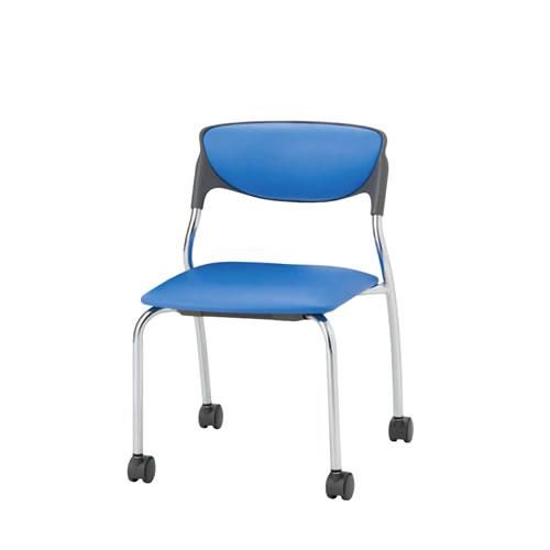 スタッキングチェア ミーティングチェア 会議椅子 肘なし キャスター付き NOTNC-K4
