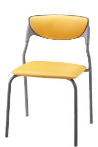スタッキングチェア ミーティングチェア 会議椅子 肘なし 4本脚 キャスター無し 塗装脚 ビニールレザー張り NOTNC-T4L