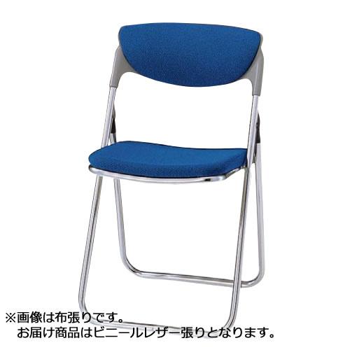 折りたたみチェア パイプ椅子 イス いす スチール脚 座モールドウレタン ビニールレザー張り TO-55L