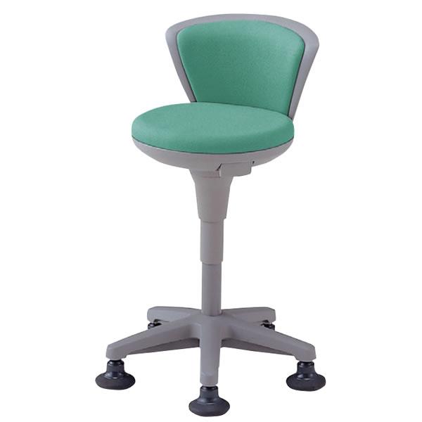 医師用 診療 診察チェア 椅子 メディカルチェア 病院イス ドクター用多目的ソフトスツール 背付 ハイタイプ 固定脚 NOTSS-16S