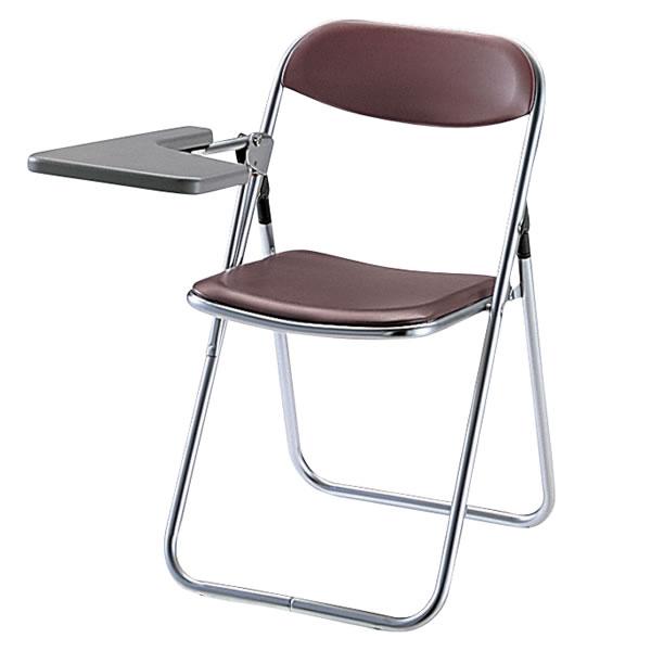 メモ台付き スチールパイプ 折りたたみチェア パイプ椅子 イス いす 3脚セット TUT-39-SET