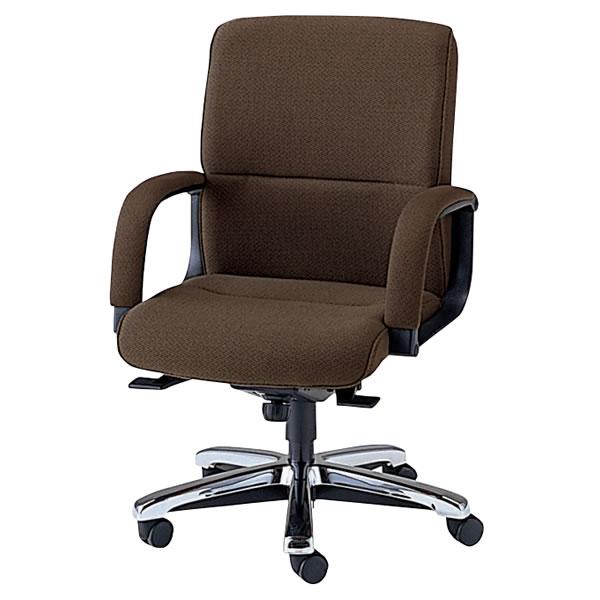 社長椅子 オフィスチェア ミドルバック プレジデントチェアー エグゼクティブチェア 布張り メッキ仕上脚 NOTXQ-6