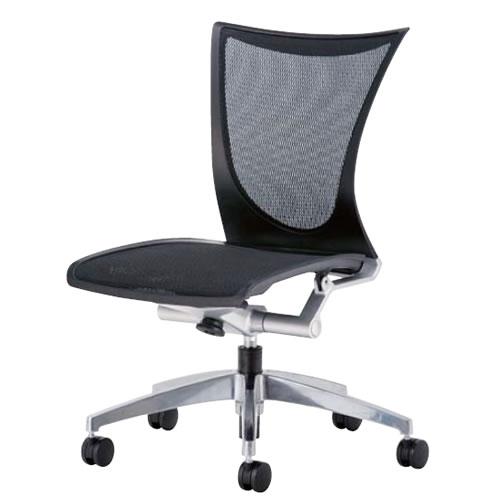 オフィスチェアー オフィスチェア 椅子 AMITTO アミット 背座メッシュ 肘なし アルミ脚 AMI-53