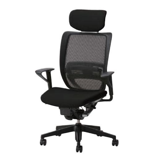 オフィスチェア 事務椅子 デスク用チェア 椅子 エスエフアール チェア SFR CHAIR ヘッド付 座クッション 固定肘 SFR-A68RB