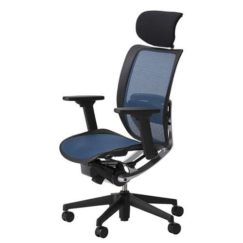 オフィスチェア 事務椅子 デスク用チェア 椅子 エスエフアール チェア SFR CHAIR ヘッド付 座メッシュ 3WAY可動肘 SFR-H78