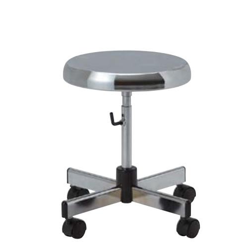 コンパクト導電作業チェア スツールタイプ 導電チェアー 作業用チェア 作業チェア 作業用椅子 手動上下調節 キャスター付TD-EH83