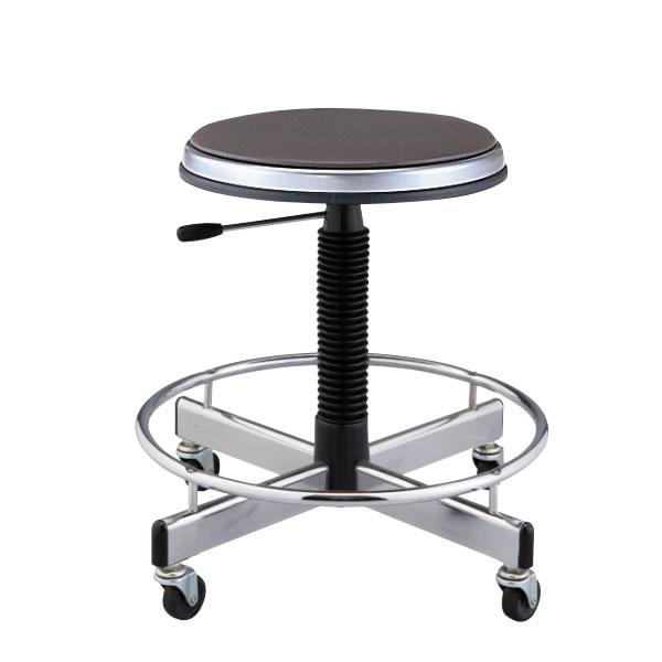 作業椅子 椅子スツール メディカルチェア 患者用チェア キャスター付き ガス上下調節 背無し 足掛けリング付き TD-H15LN
