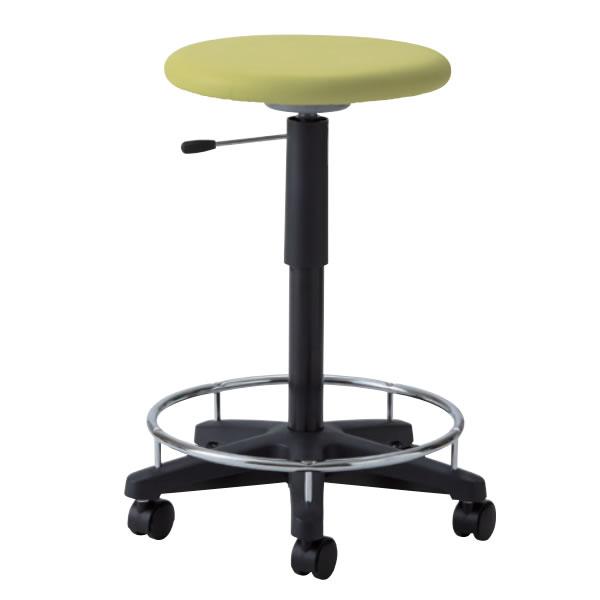 作業椅子 椅子スツール メディカルチェア 耐アルコールスツール ガス上下調節 キャスター付き 足掛けリング付き TDC-30R