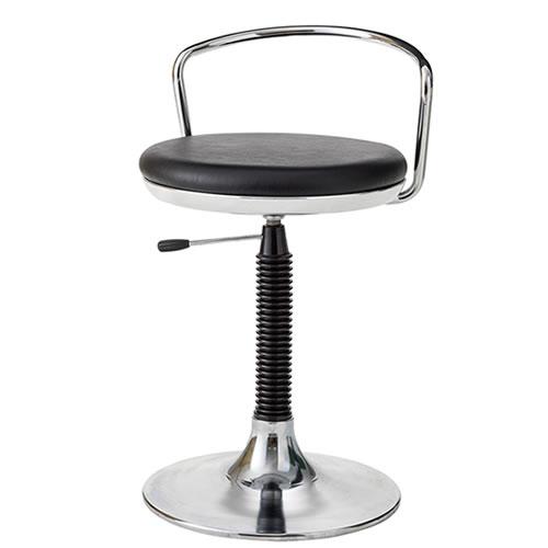 作業用チェア 作業椅子 作業スツール 椅子 ガス上下調節 TMS型 背パイプ付 円盤脚 TSM-113L