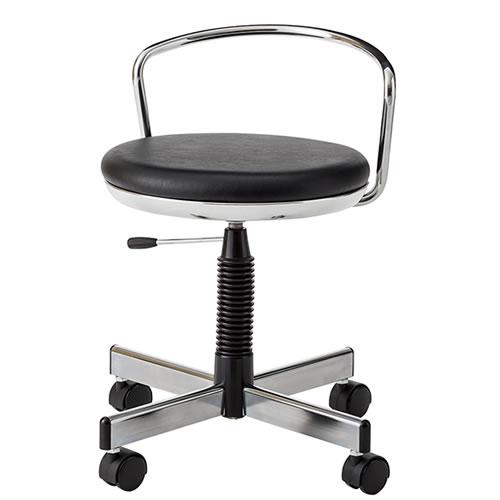 作業用チェア 作業椅子 作業スツール 椅子 ガス上下調節 TMS型 背パイプ付 キャスター付 TSM-314LN