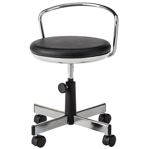 作業用チェア 作業椅子 作業スツール 椅子 手動上下調節 TMS型 背パイプ付 キャスター付 TSM-314N
