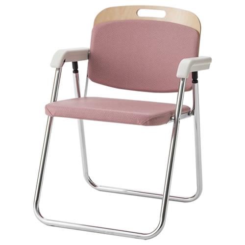 折りたたみチェア 折りたたみ椅子 イス いす WBF型 木製背折りたたみチェア SCビニールレザー 肘付き WBF-M333L