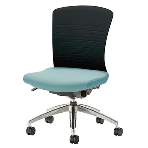 事務椅子 オフィスチェア 椅子 WITチェア アルミ脚 背パット無 WTS-50