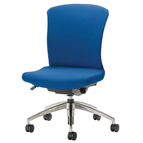 事務椅子 オフィスチェア 椅子 WITチェア アルミ脚 背パット付 WTS-55