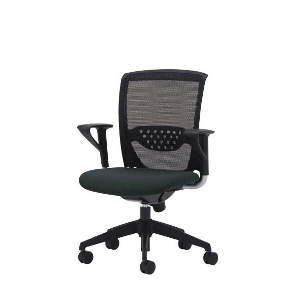 オフィスチェア 事務椅子 椅子 ルルメッシュ LULU mesh 固定肘付 ロッキング任意固定機構 ビニールレザー張り LLM-5LA