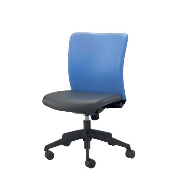 オフィスチェア 事務椅子 椅子 ルルティモ LuLutimo ミドルバック 肘なし ビニールレザー張り LLS-30L