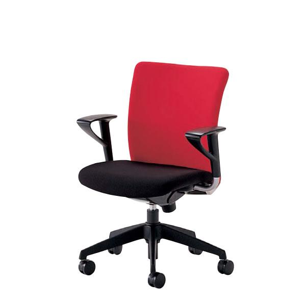 オフィスチェア 事務椅子 椅子 ルルティモ LuLutimo ミドルバック 固定肘付き 布張り LLS-A30
