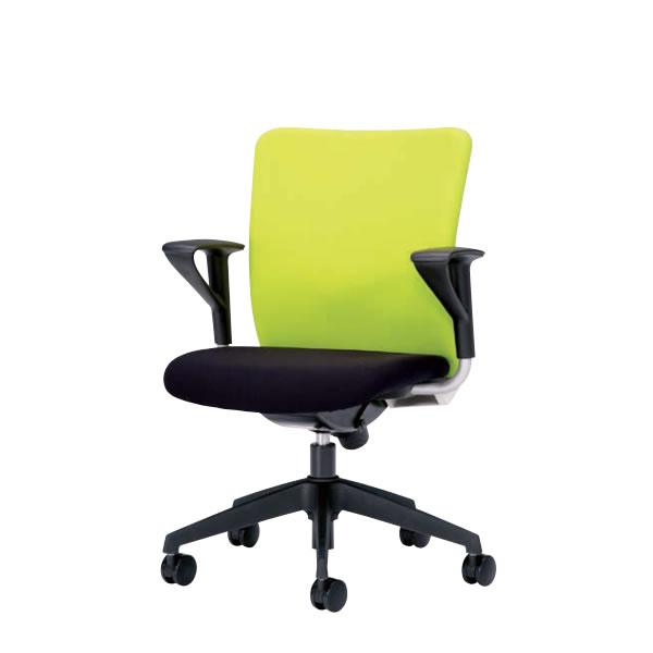 オフィスチェア 事務椅子 椅子 ルルティモ LuLutimo ミドルバック 固定肘付き ロッキング任意固定機構 布張り LLS-A35