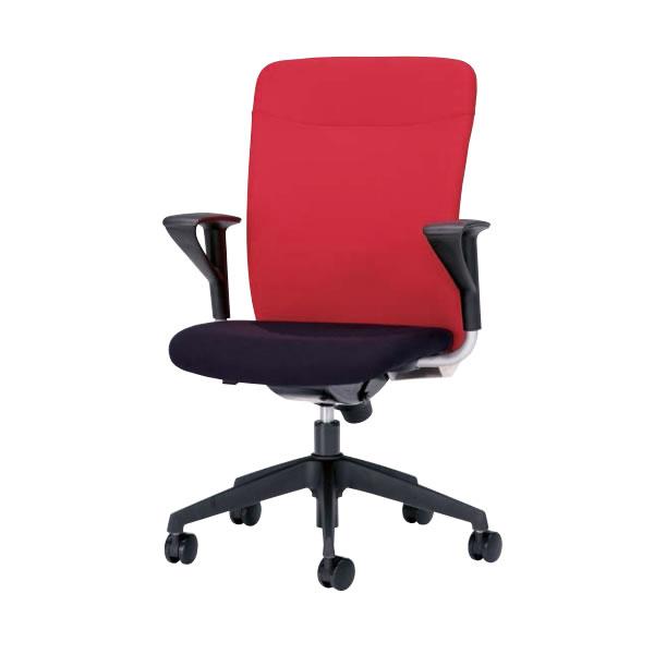 オフィスチェア 事務椅子 椅子 ルルティモ LuLutimo ハイバック 固定肘付き ロッキング任意固定機構 布張り LLS-A45