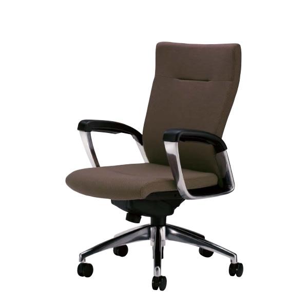 社長椅子 オフィスチェア 事務椅子 事務用イス サミットチェア ミドルバック 肘付き SMI-H6