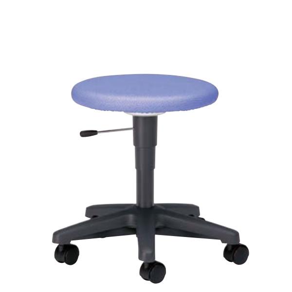 回転スツール 作業用チェア 作業椅子 作業用椅子 ガス上下調節 キャスター付き 背なし ビニールレザー張り TD-30