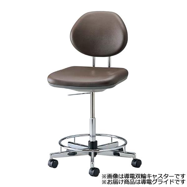 導電チェア 作業用チェアー 作業 椅子 ガス上下調節 オフィスチェア 導電グライド リング付き TE-ER6LR