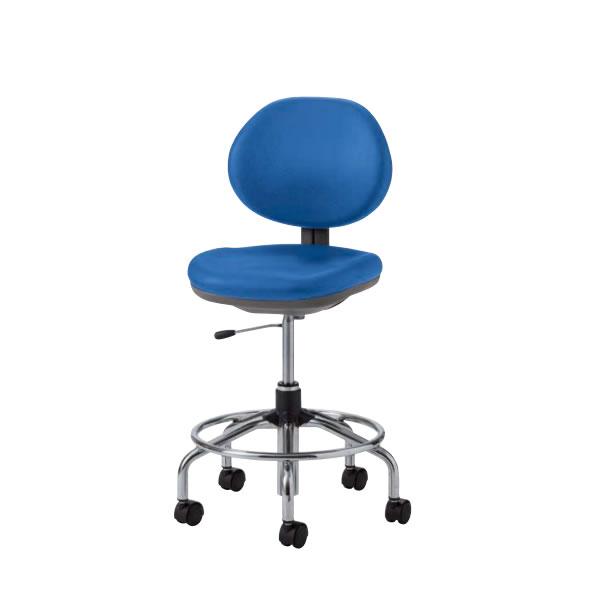 オフィスチェアー オフィスチェア 椅子 TE-H型 ハイチェア 肘なし 布張り リング付き TE-HT65C